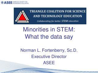 Minorities in STEM: What the data say