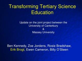 Transforming Tertiary Science Education