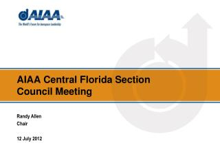 AIAA Central Florida Section Council Meeting