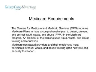 Medicare Requirements