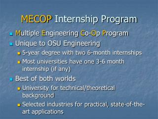 MECOP  Internship Program