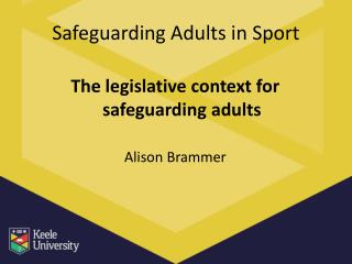 Safeguarding Adults in Sport