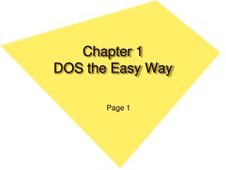 Chapter 1 DOS the Easy Way