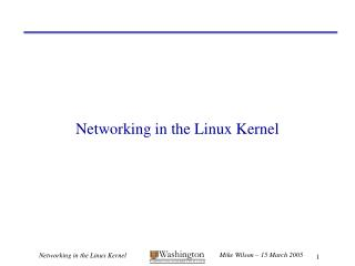 Networking in the Linux Kernel