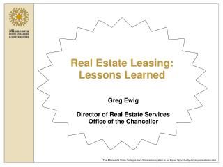 Real Estate Leasing:  Lessons Learned