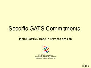 Specific GATS Commitments