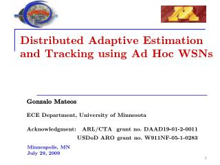 Distributed Adaptive Estimation and Tracking using Ad Hoc WSNs