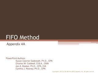 FIFO Method
