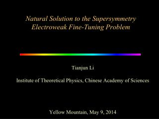 Natural Solution to the Supersymmetry Electroweak Fine-Tuning Problem