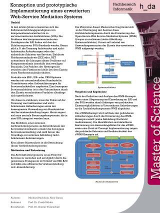 Konzeption und prototypische Implementierung eines erweiterten Web-Service Mediation Systems