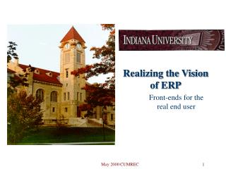 Realizing the Vision of ERP Front-ends for the real end user