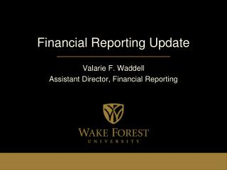 Financial Reporting Update