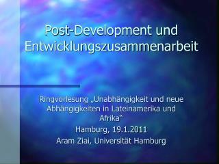 Post-Development und Entwicklungszusammenarbeit