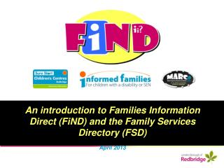 An introduction to Families Information Direct (FiND) and the Family Services Directory (FSD)