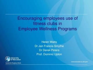 Encouraging employees use of  fitness clubs in Employee Wellness Programs