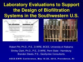 Laboratory Evaluations to Support the Design of Biofiltration Systems in the Southwestern U.S.