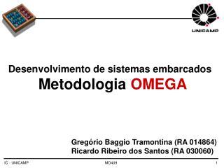 Desenvolvimento de sistemas embarcados   Metodologia  OMEGA