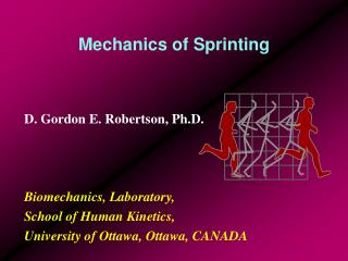 Mechanics of Sprinting