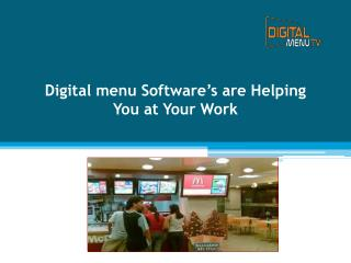 Digital menu software ideal for Restaurant