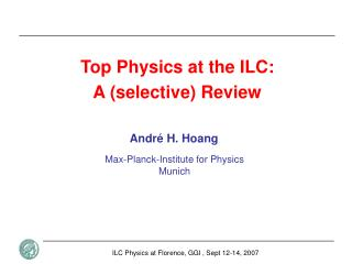 Top Physics at the ILC:  A (selective) Review