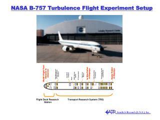 NASA B-757 Turbulence Flight Experiment Setup