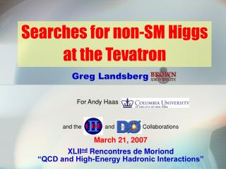 Searches for non-SM Higgs at the Tevatron