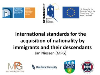 International standards for the acquisition of nationality by immigrants and their descendants