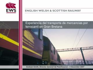Experiencia del transporte de mercancias por ferrocarril en Gran Bretana