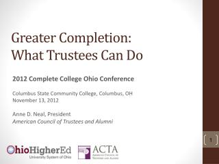 Greater Completion: What Trustees Can Do