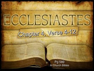 Pg 589 In Church Bibles