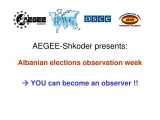 AEGEE-Shkoder presents: