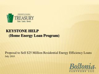 Proposal to Sell 25 Million Residential Energy Efficiency Loans