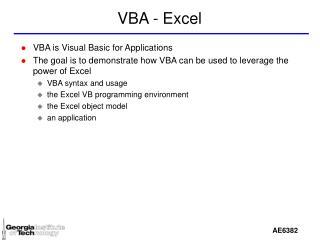 VBA - Excel