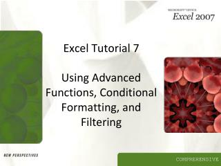 Excel Tutorial 7 Using Advanced Functions, Conditional Formatting, and Filtering