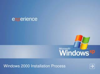Windows 2000 Installation Process