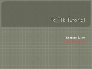 Tcl / Tk Tutorial