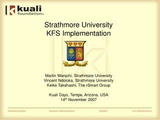 Strathmore University  KFS Implementation