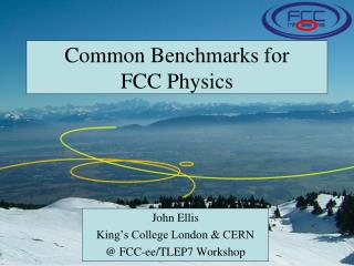 Common Benchmarks for FCC  P hysics