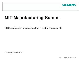MIT Manufacturing Summit