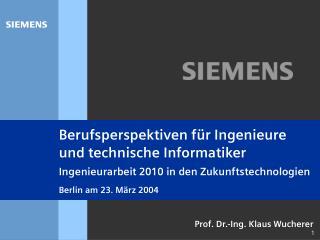 Prof. Dr.-Ing. Klaus Wucherer