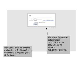 Madalena Figueiredo, colaboradora da EXEP, inscrita previamente no sistema,