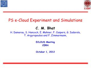 PS e-Cloud Experiment and Simulations