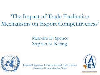 'The Impact of Trade Facilitation Mechanisms on Export Competitiveness'