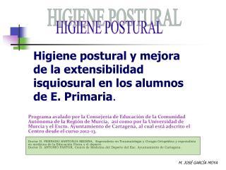 Higiene postural y mejora de la extensibilidad isquiosural en los alumnos de E. Primaria .