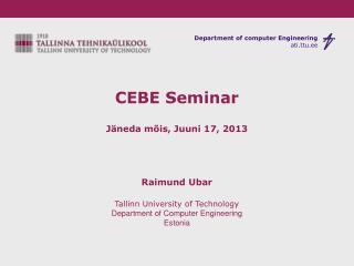 CEBE Seminar Jäneda mõis, Juuni 17, 2013