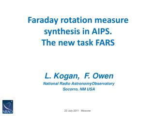 Faraday rotation measure  synthesis in AIPS.  The new task FARS