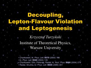 Decoupling, Lepton-Flavour Violation and Leptogenesis