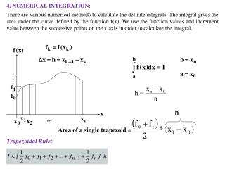 4. NUMERICAL INTEGRATION: