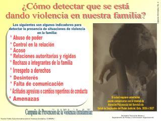 �C�mo detectar que se est� dando violencia en nuestra familia?