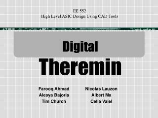 Digital Theremin